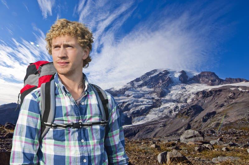 Alpinista obrazy royalty free