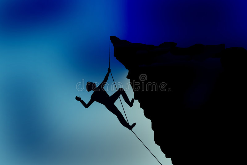 Download Alpinista ilustração stock. Ilustração de realização, limite - 544530