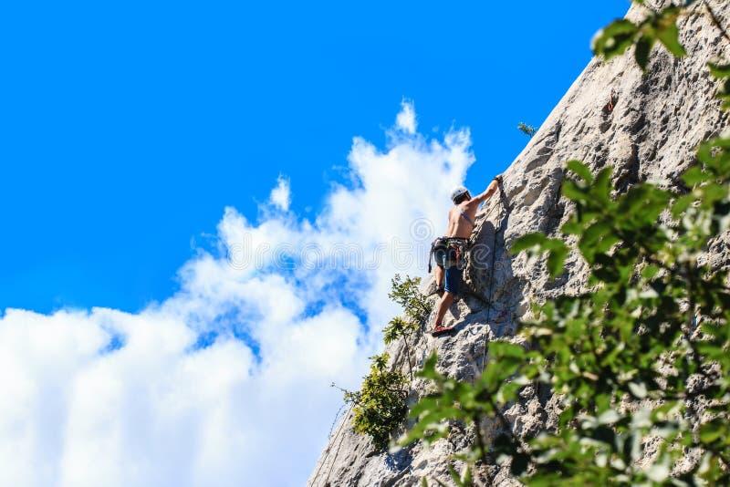 Alpinista - góra zdjęcie royalty free