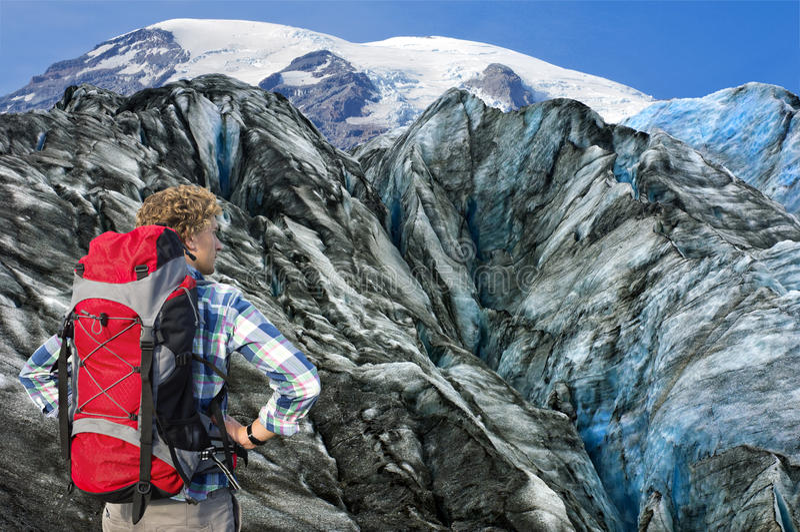 Alpinista target549_1_ wyzwanie zdjęcia royalty free