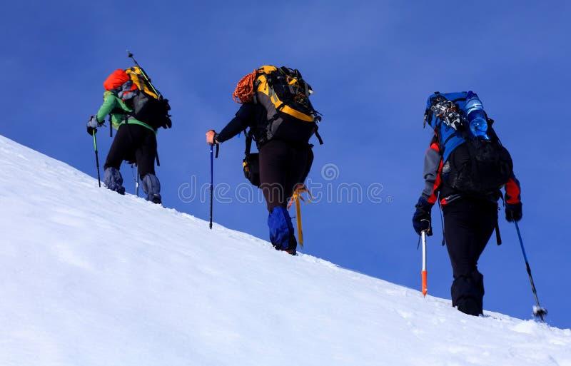 Alpinistas imágenes de archivo libres de regalías