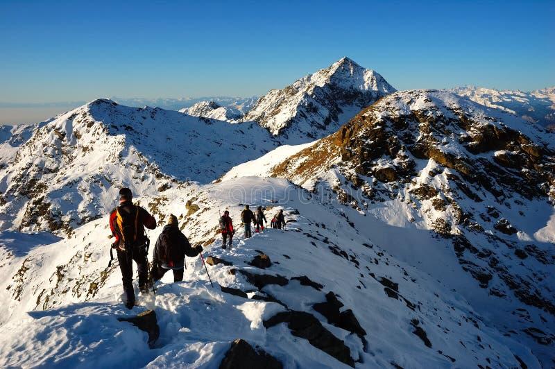 alpinistas imagens de stock