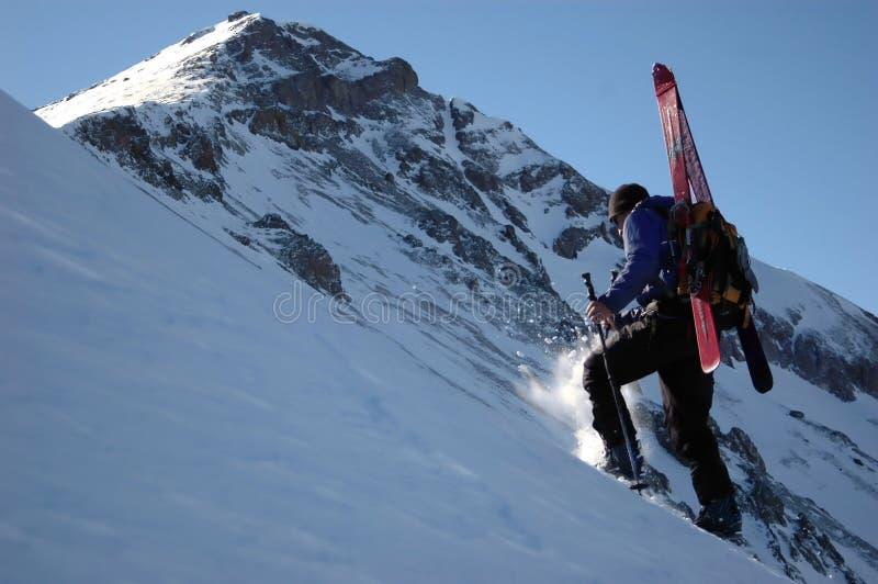 Alpiniste de ski photo stock