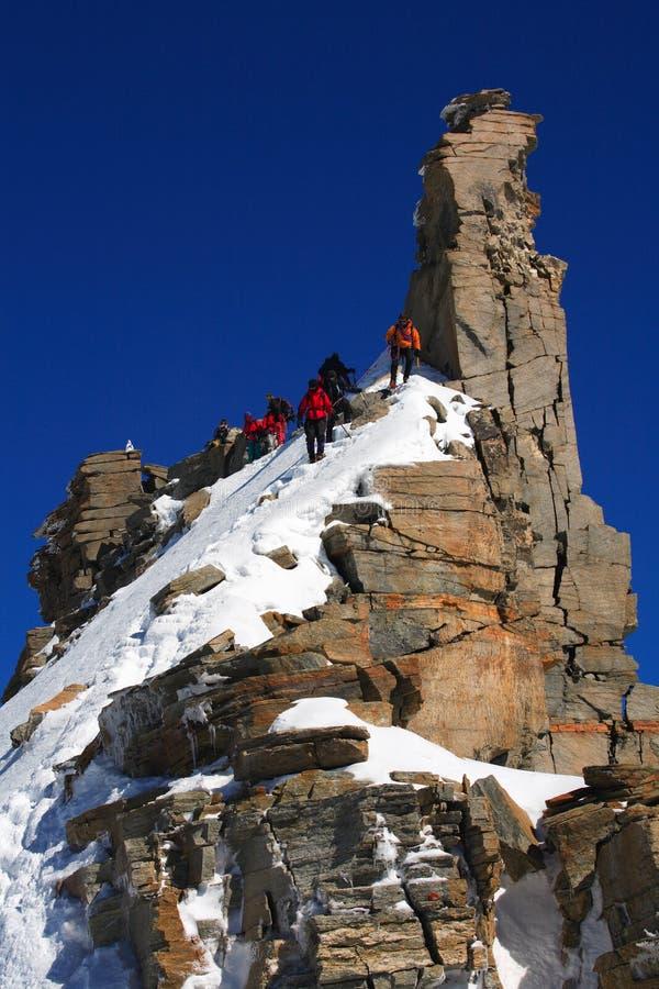 Alpinisten stockfoto