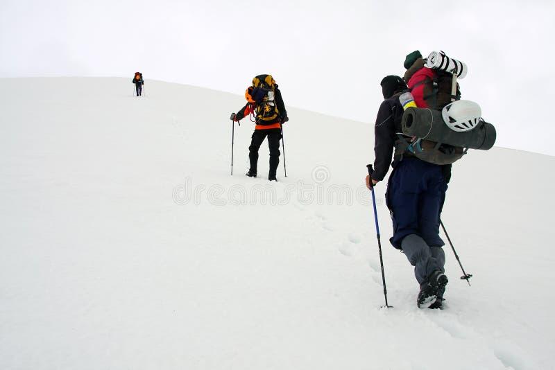 Alpinisten lizenzfreies stockbild