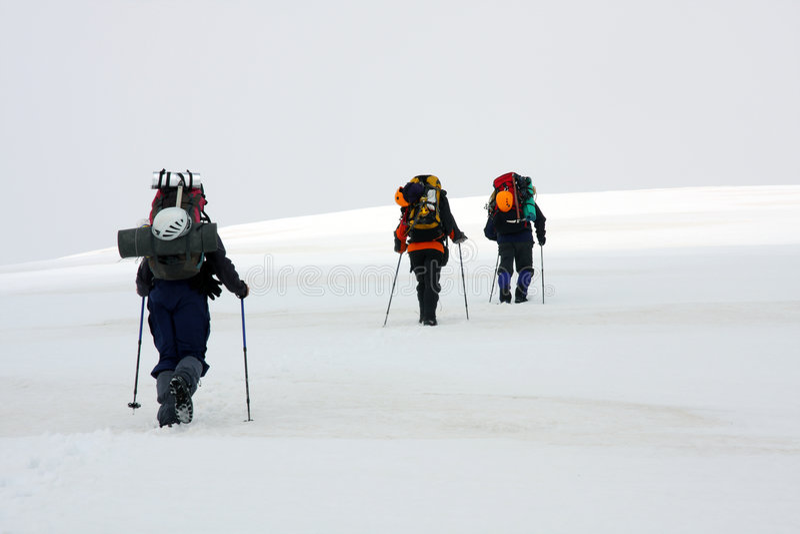Alpinisten stockfotos