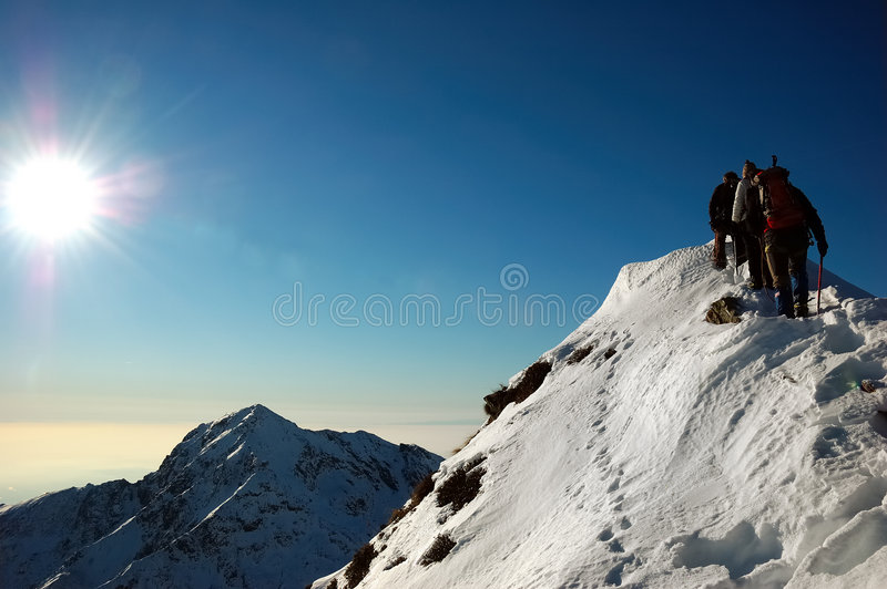 alpinistes photos stock