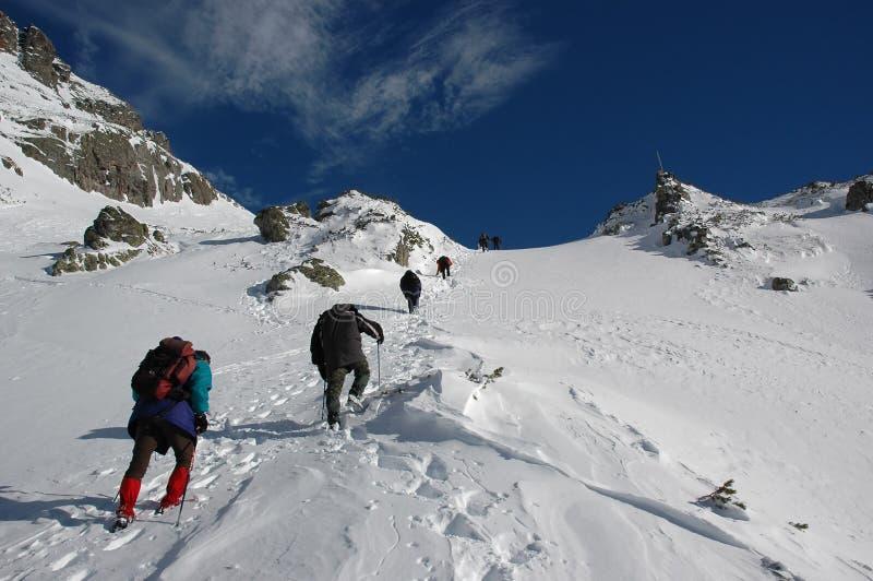 Alpinisti immagini stock