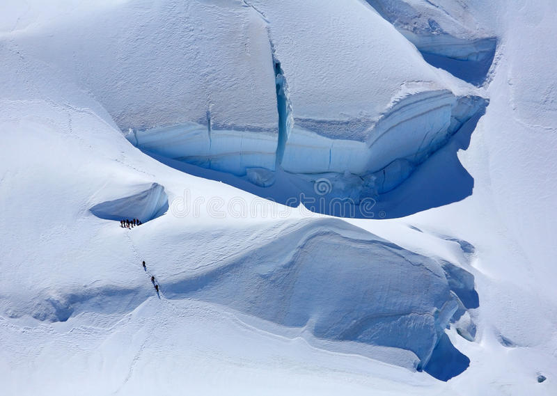alpinists arkivfoton