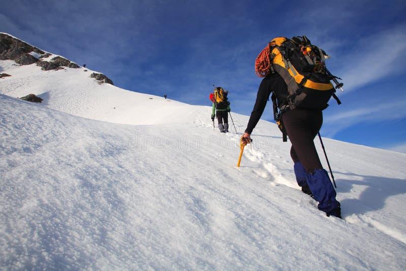 alpinists arkivbild