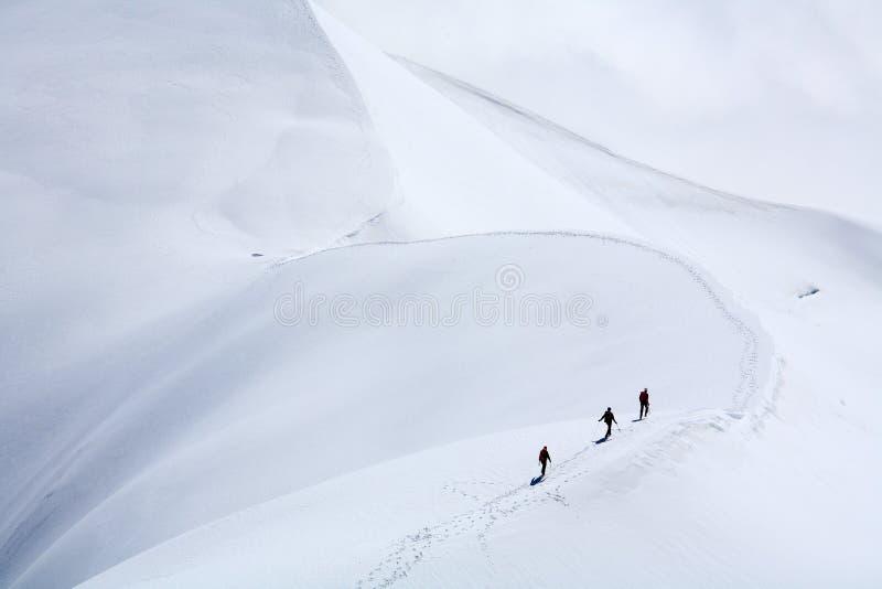 alpinists стоковые фотографии rf