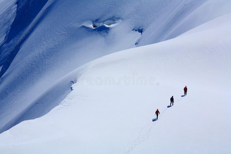 alpinists стоковая фотография