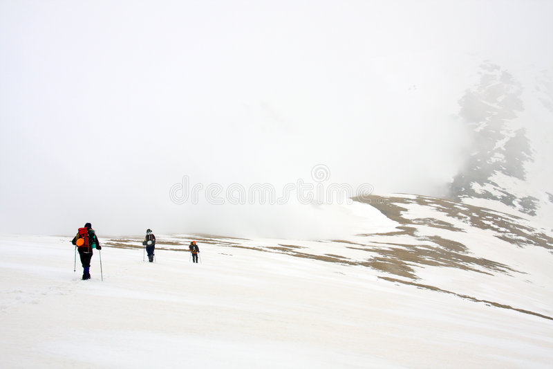 Alpinists imagens de stock