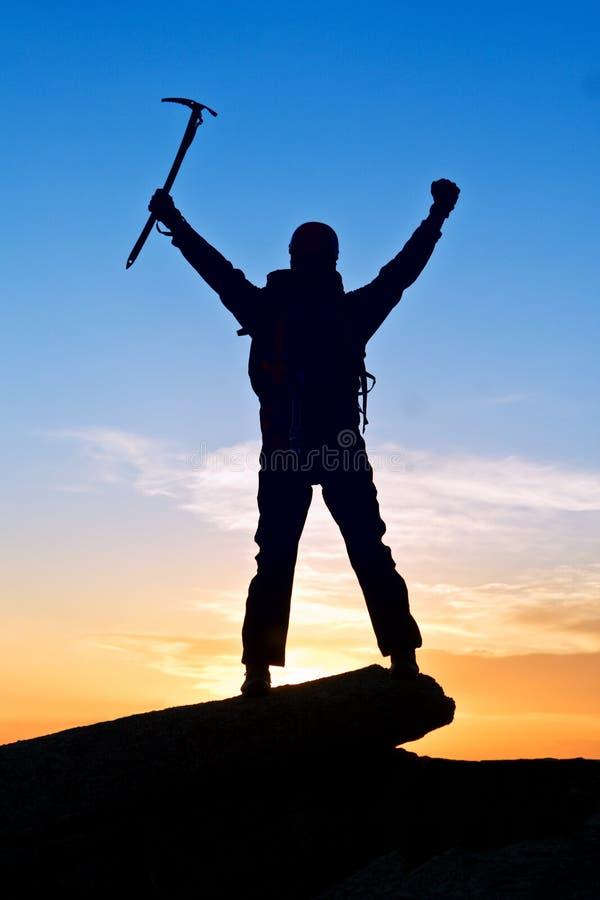 alpinisty halny wierzchołek fotografia stock