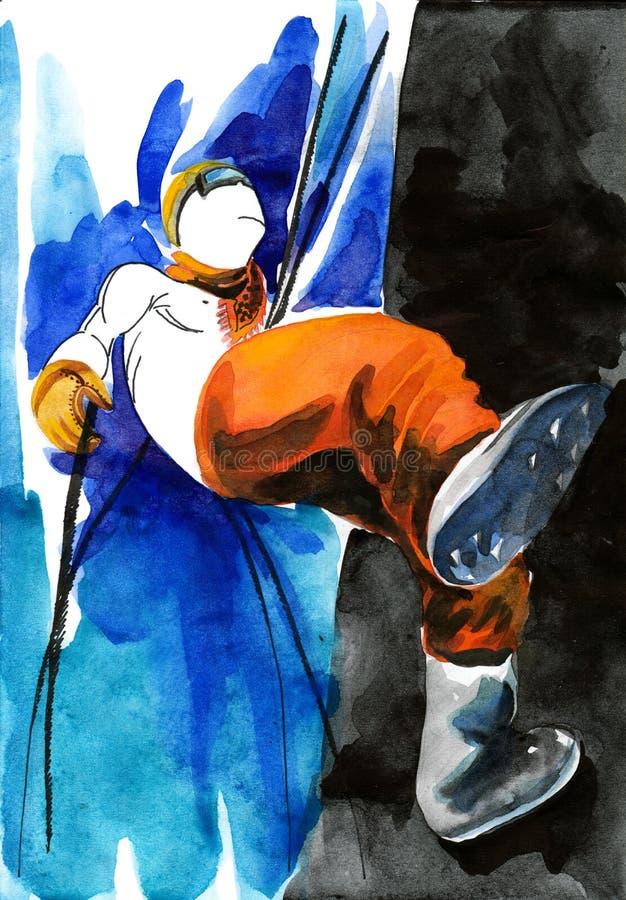 Alpinistyka royalty ilustracja