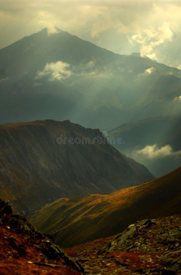 alpint berg royaltyfri foto