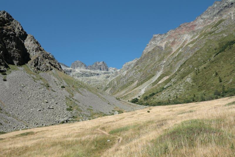 Alpint berg i Frankrike arkivfoton