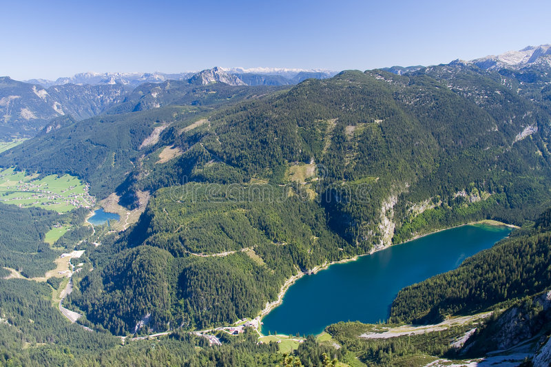 alpint lakelandskap royaltyfria bilder