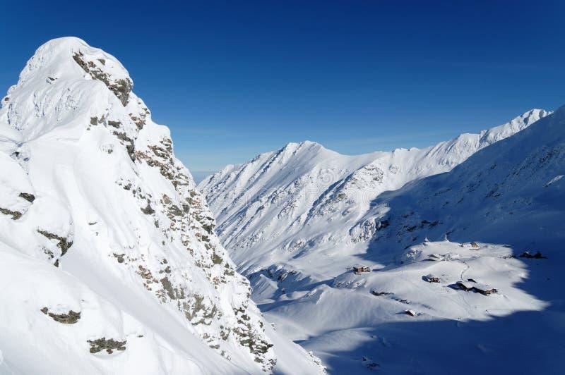 Alpint landskap i de Carpathians bergen arkivbilder