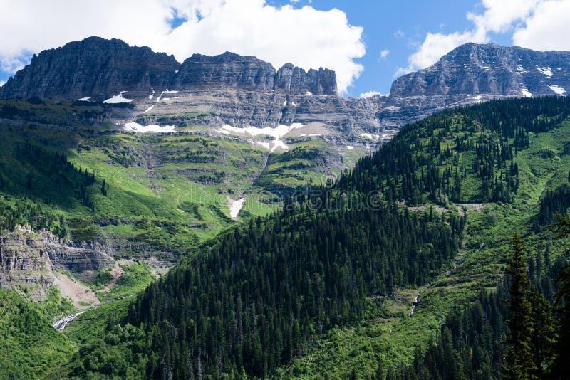 Alpint landskap i glaciärnationalparken, USA royaltyfria foton