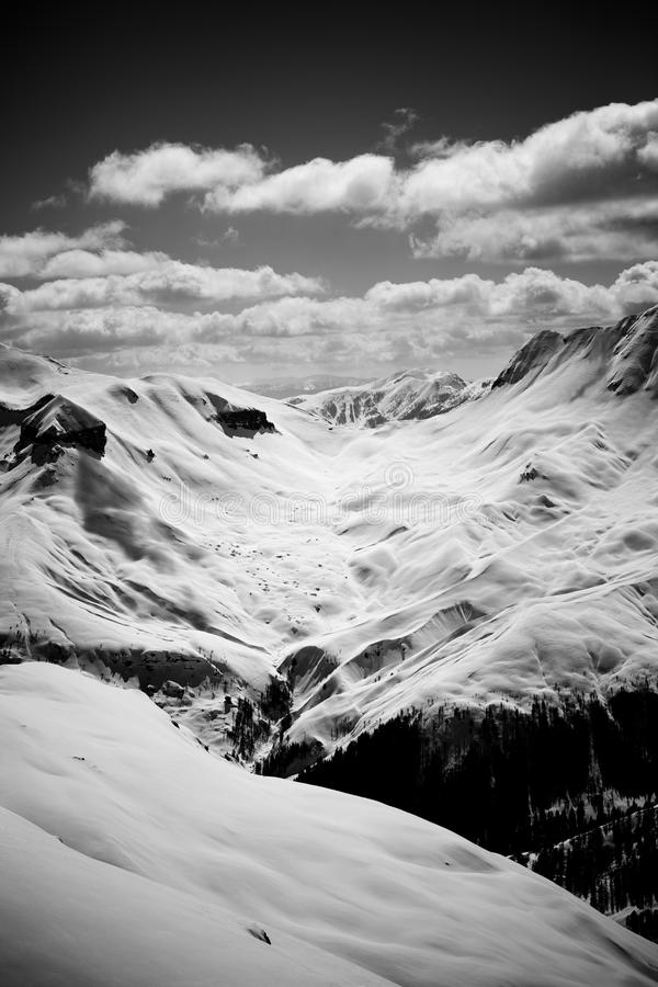 Download Alps stock photo. Image of white, weather, valley, grayscale - 17180044