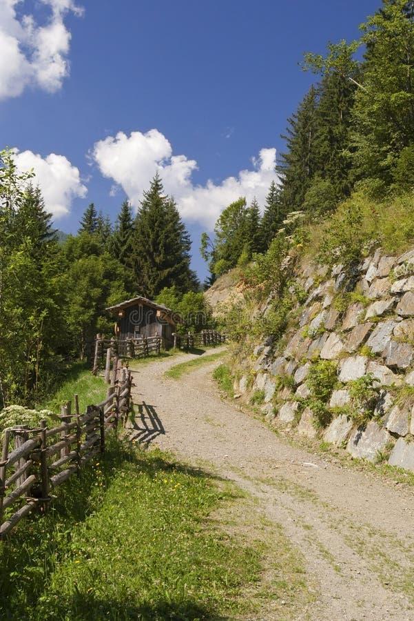 alps austriacka żwiru droga zdjęcia royalty free