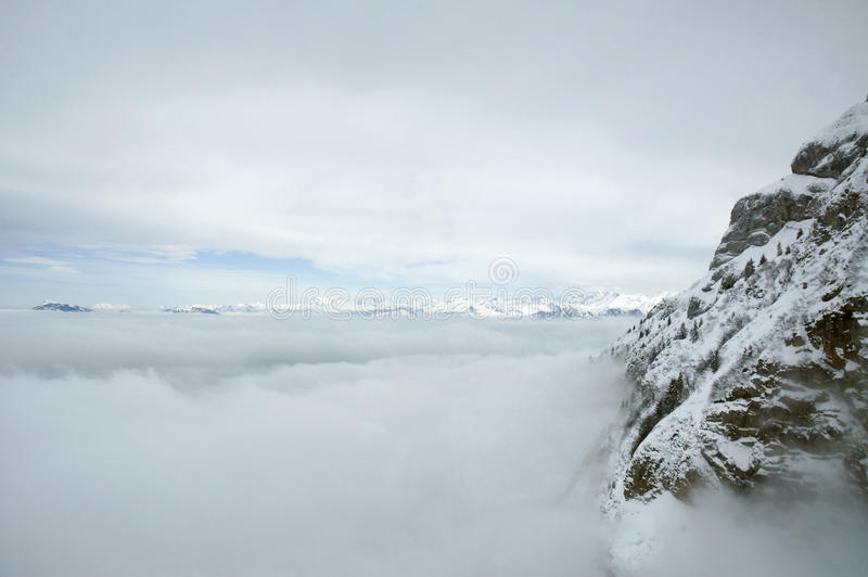Alps in Clouds royalty free stock images