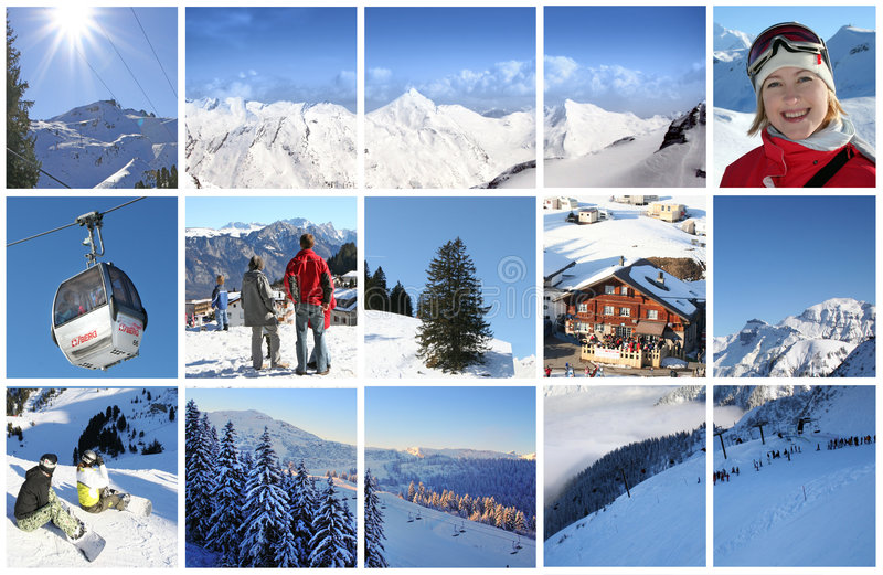 Download Alps in collage stock photo. Image of house, resting, alps - 4929252
