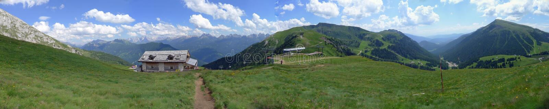 alps dolomiti Italy panoramiczny widok fotografia stock
