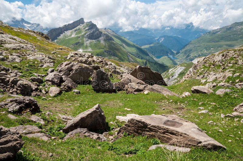 Download Alps, France (by Col Du Bonhomme) Stock Photo - Image of blanc, stone: 26291664