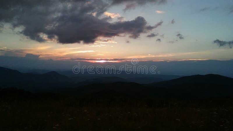 alps halna zmierzchu wioska zdjęcie royalty free