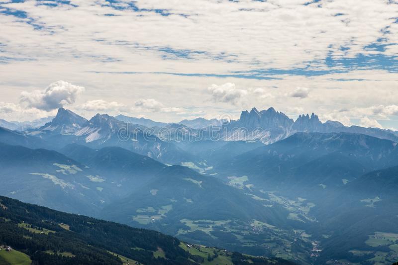 Alps with great view on dolomites stock images
