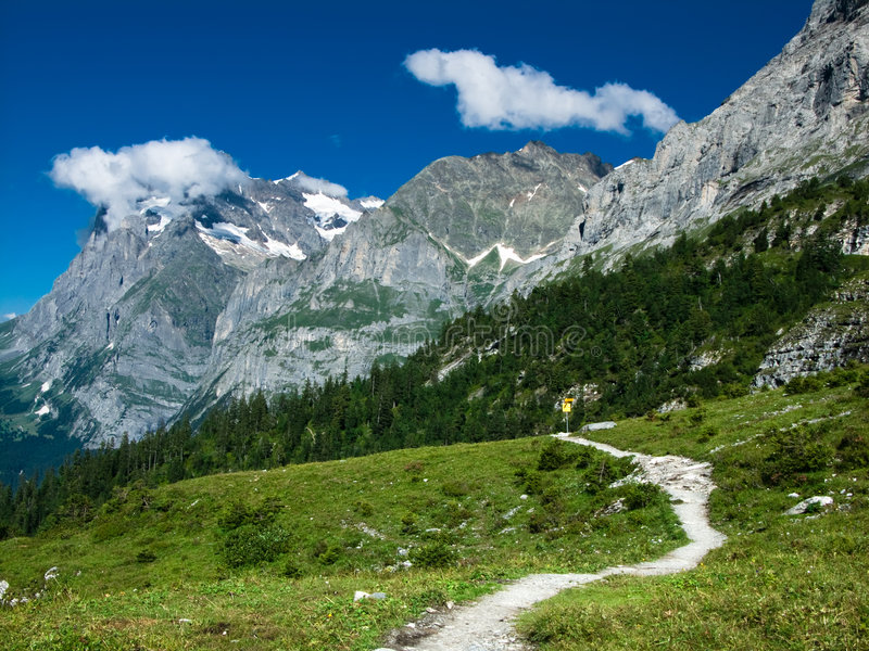 alps kształtują teren Switzerland zdjęcia royalty free