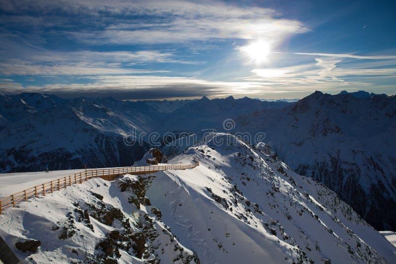Alps landscape stock photo