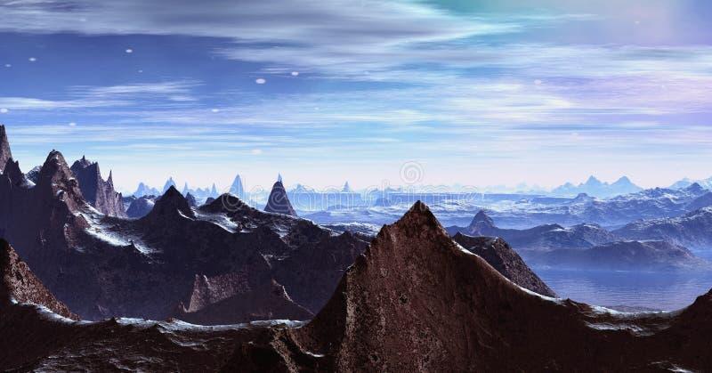 Alps landscape at sunset stock photo