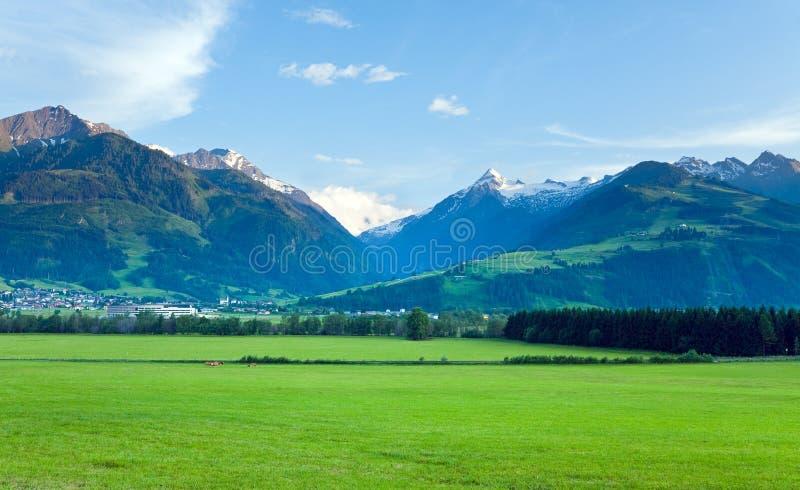 alps lato widok zdjęcie stock