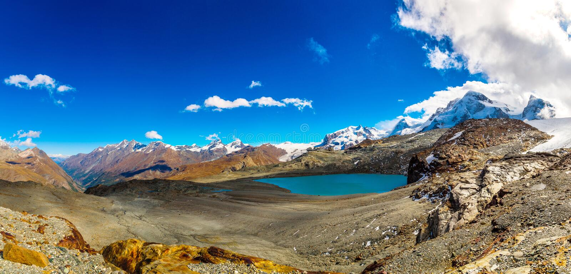 Alps mountain landscape in Swiss stock photo