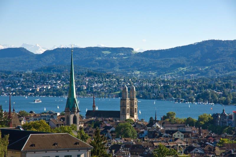 alps nad widok Zurich zdjęcia royalty free