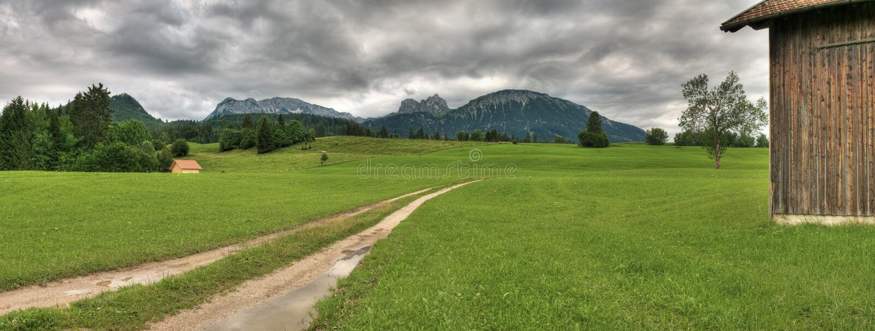 Alps panorama    obraz stock