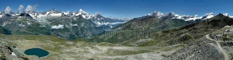 Alps panorama from Gornergrat stock photo