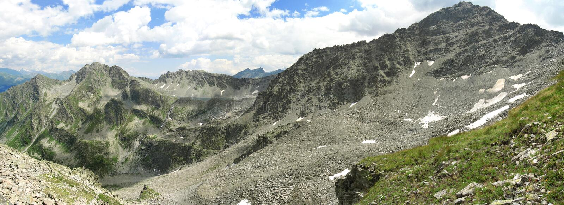 Alps, panoramic view stock photo