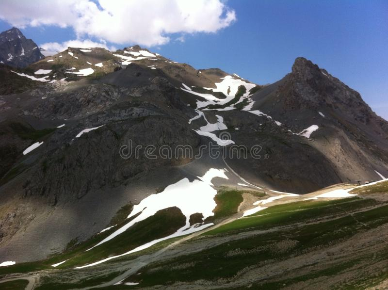 Alps of provence in july stock image