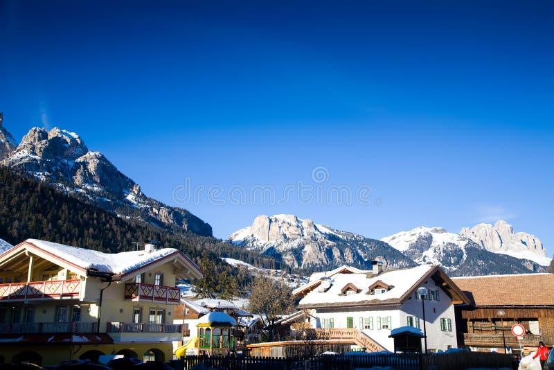 Alps Ski Resort Village Royalty Free Stock Photos