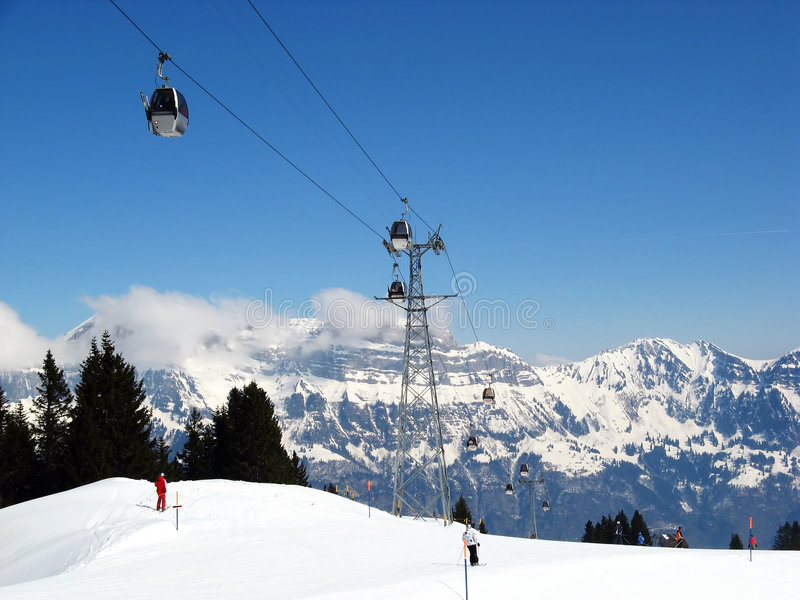 alps som skidar schweizare royaltyfria foton