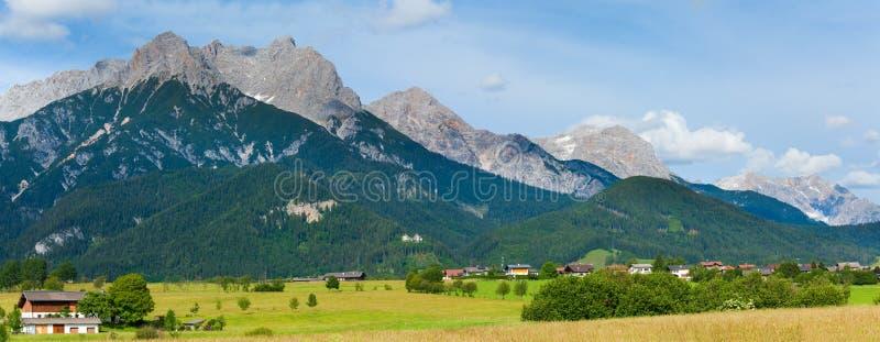 Alps summer panorama (Austria). royalty free stock photos