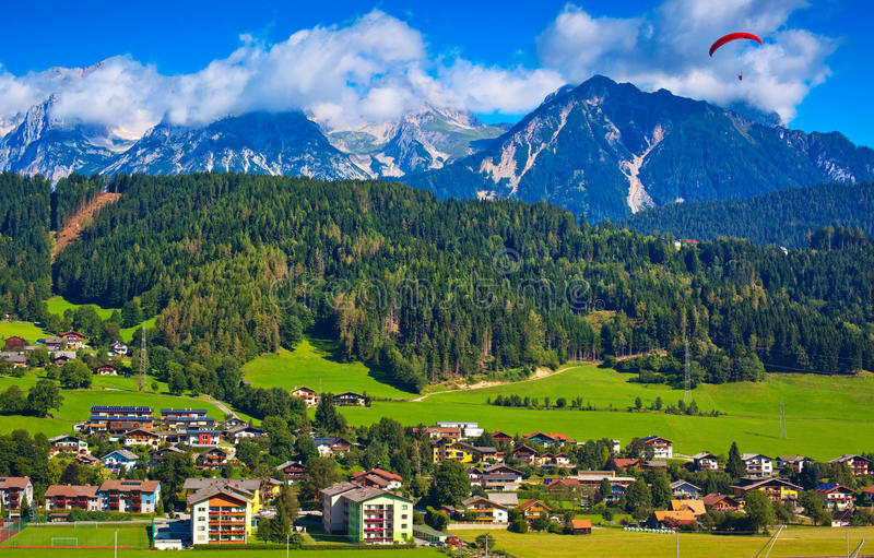 Download Alps town stock image. Image of europe, hill, scenic - 29998327