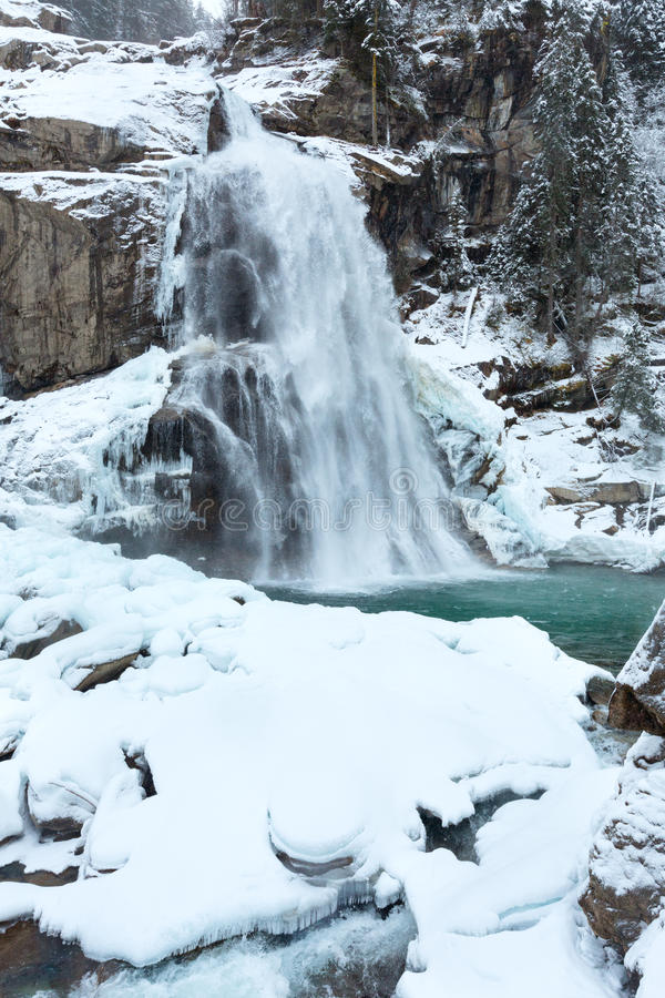Download Alps waterfall winter view stock image. Image of view - 28688535