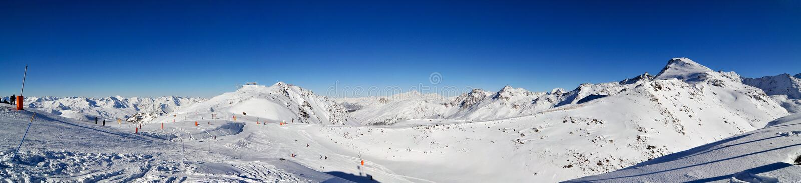 Alps Winter Panorama stock photography