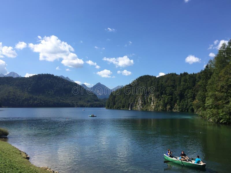 Alpsee στη Βαυαρία στοκ εικόνα με δικαίωμα ελεύθερης χρήσης