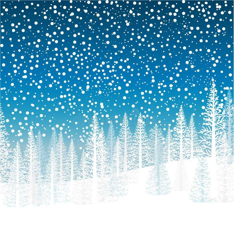 alpy objętych domowej sceny zimy małe szwajcarskie śnieżni lasu ilustracja wektor